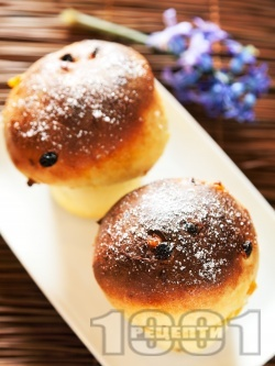 Мини козунаци за хлебопекарна със стафиди и сушени кайсии - снимка на рецептата